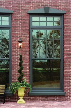 Majesta from Kolbe is a collection of large, double-hung windows for historic properties or converted warehouses. The made-to-order units are available in sizes up to 6' by 12' and are custom-made with balances matched to the size and weight of the sash, stile, and rail dimensions. Several types of divided lites are available, as are matching single-hung, radius, and cottage-style units. Hardware comes in brass, rustic umber, or satin nickel. Pine is the standard wood, but a range of optional species, including those certified by the Forest Stewardship Council, and aluminum are also available. kolbe-kolbe.com