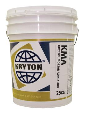 Kryton Internationals Krystol Mortar Admixture transforms rendering mortars, usually applied to exterior building surfaces as finishes, into waterproof protection. When added to concrete mixes in brick and block construction, Krystol reacts to form millions of tiny needlelike crystals that block capillary pores and cracks. In the past, brick construction required surface-applied sealant for waterproofing, which was temporarily effective but chipped and flaked as a building agedthis admixture eliminates the need for those sealants. kryton.com