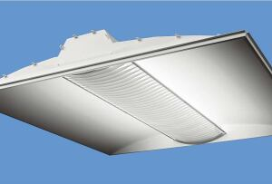 Class R Series recessed luminaires  Corelitecorelite.com  Low-profile housing fits in restricted plenum spaces; 1 3/4- or 2 7/8-inch depths - Uses T5 lamps - Available in onefoot- by-four-foot, two-foot-by- two-foot, and two-footby- four-foot sizes with one, two, or three lamps - Four shielding options