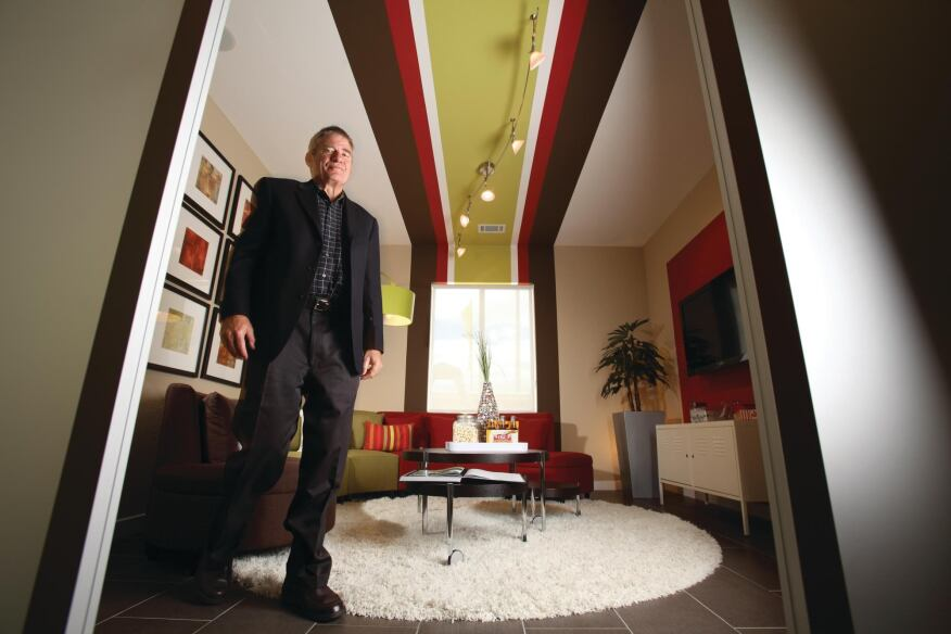 OPENING THE BOX: Howard Englander helped devise Shea Homes' Spaces concept.