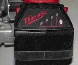 Roughly the same size and weight as an 18-volt nicad pack, Milwaukee's V28 lithium-ion battery pack uses four 7-volt cells and includes an LED fuel gauge that shows the pack's remaining life when a small button is pressed.