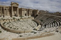 Facade of Ancient Roman Amphitheater Demolished by ISIS