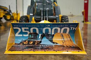 John Deere Produces 250,000th Backhoe