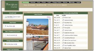 BUYER VIEW: BuilderTREND lets custom home buyers view their home's latest construction  photos plus a modified view of the production schedule.