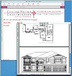 Clients of Custom Design & Construction can view their project details and design using a personal ID and password on the company's Web site.
