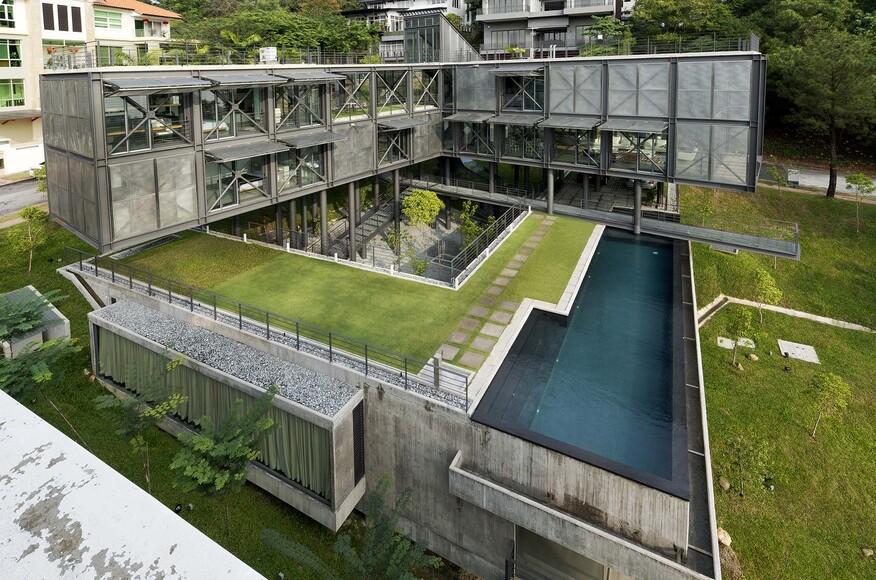 Cantilever house architect magazine design unit kuala for Architecture design company in malaysia