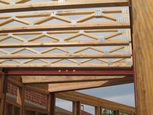 For its 2007 Solar Decathlon house, Team California worked with Teragren to develop these structural bamboo I-beams. The team and manufacturer have continued to work together to move the concept forward.