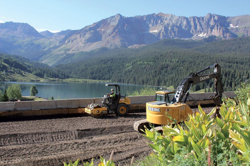 Telluride Gravel, an Americas Materials company of CRH, performing full-depth road reconstruction and embankment slide repairs on Colorado State Highway 145 at Lizard Head Pass, Trout Lake, Colorado.