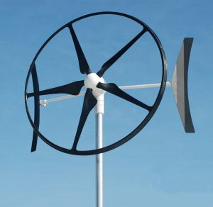 Cascade Engineering. The rooftop-mountable Swift turbine is designed for urban and suburban homes, starting up in 8-mph winds. It can produce 1,900 kWh per year at a 13.4-mph average wind speed, says the firm, and is never louder than 35 decibels, equivalent to a whisper. The turbine measures 7 feet in diameter. 866.544.5520. www.swiftwindturbine.com.