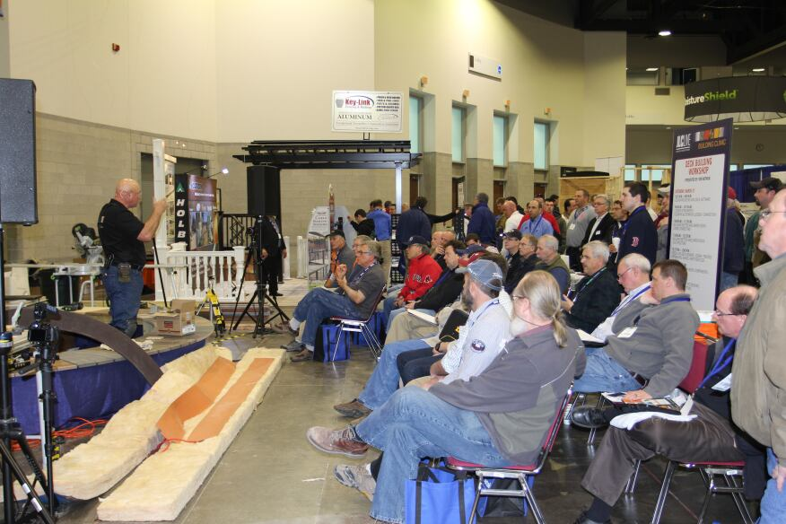 PDB contributing editor Kim Katwijk presented an all-day deck building workshop on the show floor.