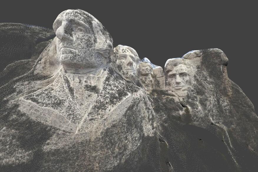 Mount Rushmore modeled in Autodesk Recap 360.