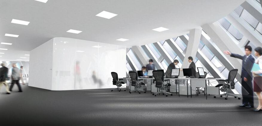 Interior rendering - typical office.