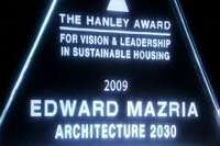 Edward Mazria Wins First Hanley Award