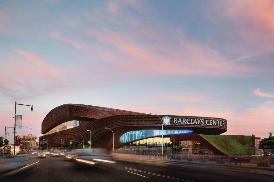 Barclays Center at Atlantic Yards, designed by SHoP Architects.
