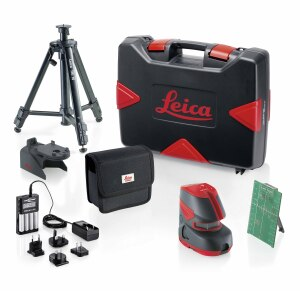 The premium, L2G+ Pro Kit contains the same items as the more basic kit, plus a tripod, rechargeable batteries, and charger.