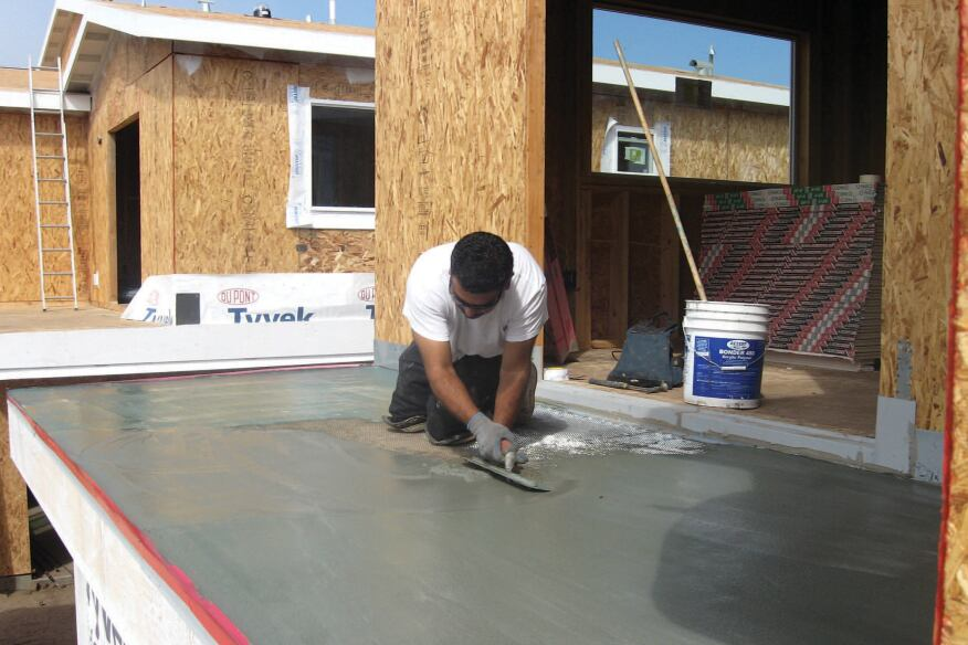 Waterproofing Decks Over Living Areas : Dry deck over living space jlc online decks polymer