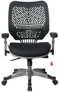 Office Starofficestar.net  55 degrees of deflection at lumbar 2-to-1 synchrotilt recline with tilt-tension - Three locking positions: upright, relaxed, and reclined - Dual-layer foam cushion with cellular structure and mesh-fabric upholstery - Available in seven color options