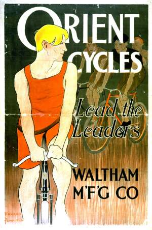 Vintage bike ad from Library of Congress.