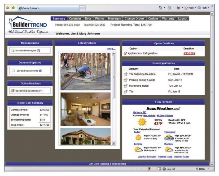 Construction Software Buildertrend Web Based Construction