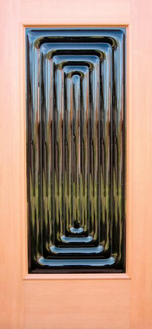 door lore ClearCast Glass door panels tell their tales through design. The repetitive ridges of the Echo, for example, represent the physical embodiment of reverberating sound. The rest of the story is found inside the glass, where each compartmentalized