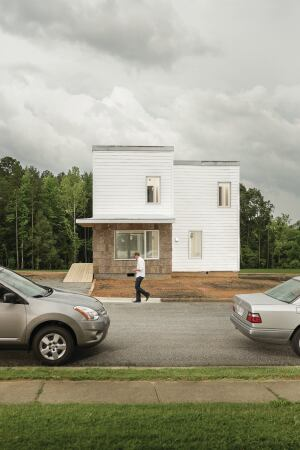 One of EcoMod's prefab houses in South Boston, Va.