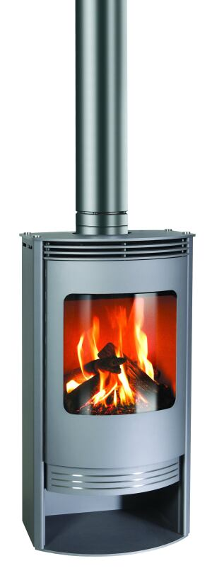 Hot Air: Freestanding wood stoves are highly desirable, but codes often prohibit them in multi-family projects. Gabo Gas II solves that issue. It has the same clean lines as the manufacturer's wood-burning products but uses ceramic logs and embers that generate 13,000 to 20,000 BTU per hour. Available in black or gray, the unit features steel sides and top plates, and has a curved glass door. Cost: $3,800. Rais. 888-724-7789. www.rais.com.