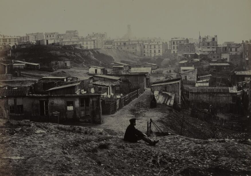 Haut de la rue Champlain (vue prise à droit) (Top of the rue Champlain) (View to the Right) (twentieth arrondissement), 1877-1878. Albumen print from collodion negative. Musée Carnavalet, Paris © Charles Marville / Musée Carnavalet / Roger-Viollet