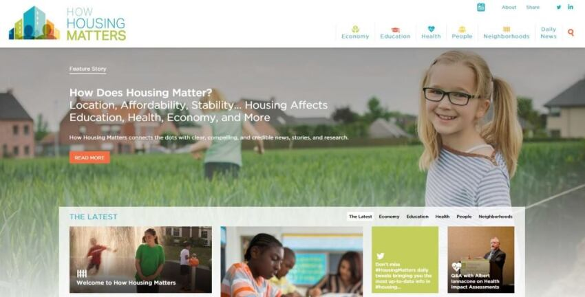 New Website Focuses on Housing's Impact