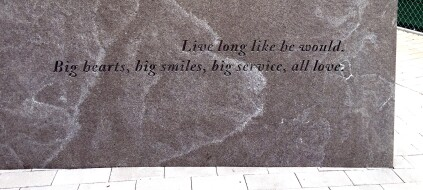 An inscription in the memorial.