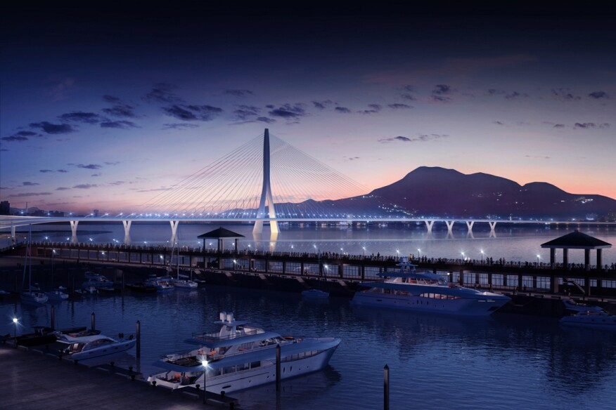 Danjiang Bridge by Zaha Hadid Architects