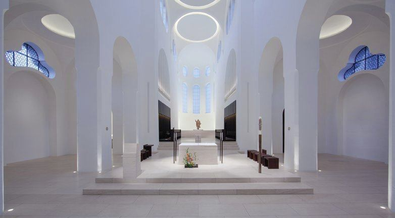 The Altar area is illuminated by 10 framing projectors concealed from view.