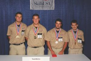 Next-gen employees? 2008 SkillsUSA High School gold medalist construction team from Sparta High School (Ill.): )L-R) Lance Glodo, Alexander Veath, Dustin Salger, Josh Hanna.