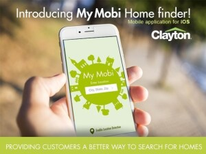 The MyMobi Home Finder app is now available for select smartphones. (PRNewsFoto/Clayton)
