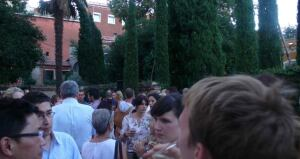 Revelers at the party for the U.S. Pavilion at the  Peggy Guggenheim Collection in Venice.