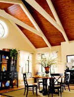 Decorative ceiling treatments from Armstrong give homeowners something to look up to.