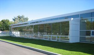 Wilmette's new public works facilities has 12,900 square feet of office space and three new vehicle wash bays that recycle water. Photo: Legat Architects Inc.
