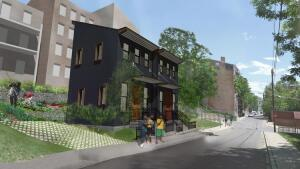 The two tiny homes planned for Peete Street in the Over-The-Rhine neighborhood of Cincinnati.