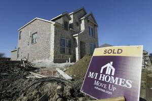 New homes from M/I Homes are being sold.