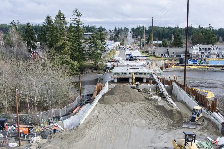 Road work in Kitsap County in Washington state