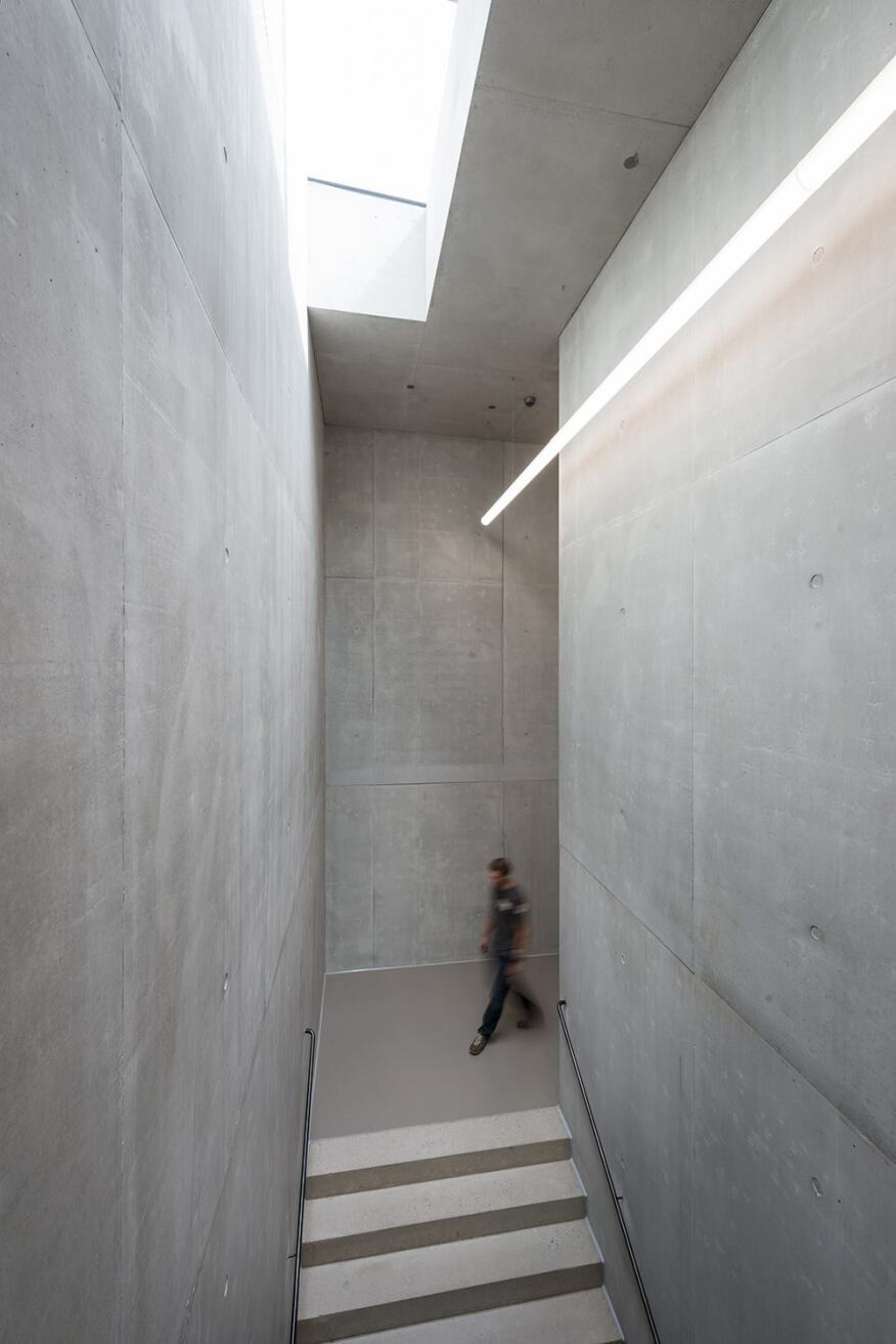 Concrete-lined stairwell