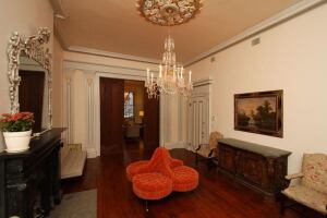 High Falutin': Rich accoutrements and antique regalia await the next renter at 436 West 20th Street for a mere $20,000 a month.