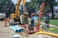 Directional drilling for gravity sewers