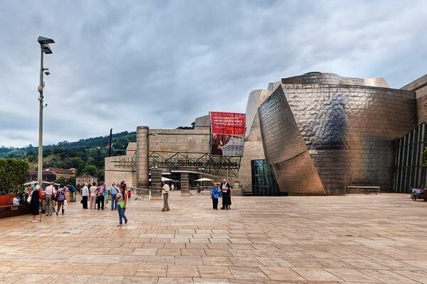 Screenshot of Guggenheim Museum Bilbao in Google Maps Street View
