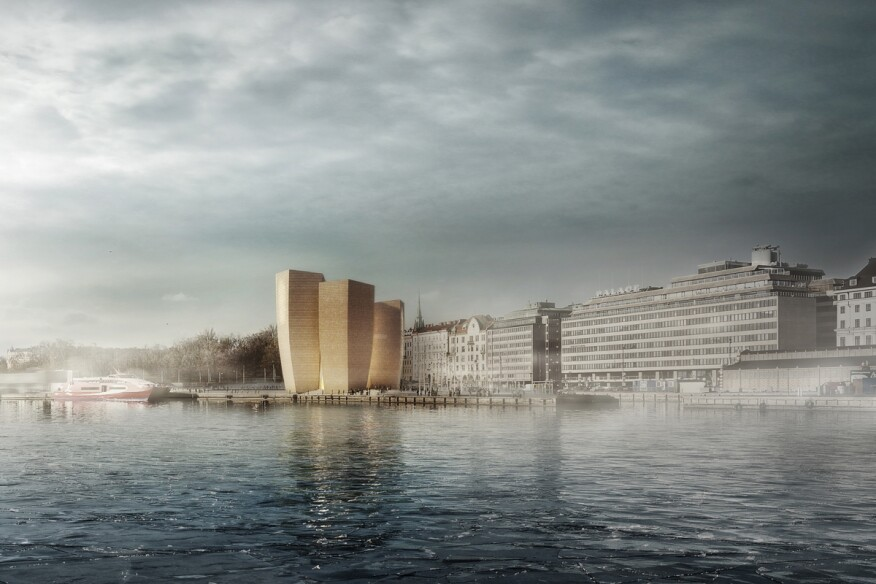 One of the six finalists in the competition to design Guggenheim Helsinki.