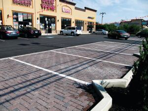 "Eco-Ridge from Nicolock is a line of permeable pavers that offer the look of natural stone. Designed for installation in a 90-degree herringbone pattern for better structural performance, the pavers have a profiled surface texture and come with the companys Paver-Shield protection. They can also be laid mechanically in large areas where economical installation is needed. The product line eliminates up to 100% of runoff and directs stormwater to 1/2"" gaps and a permeable base. They are suited for driveways, parking lots, and roadways and are available in two colors. nicolock.com"