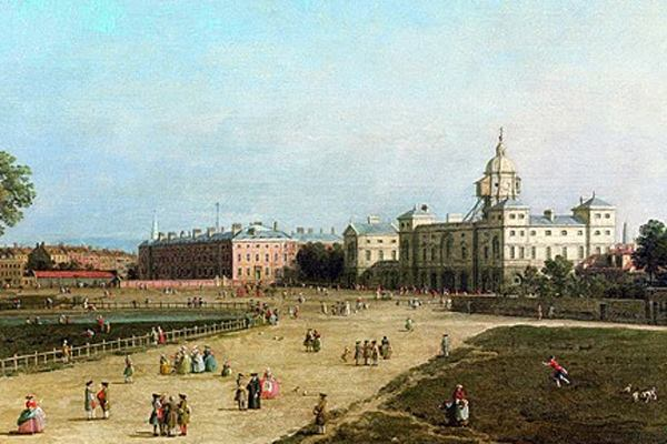 New Horse Guards from St James's Park by Giovanni Antonio Canaletto