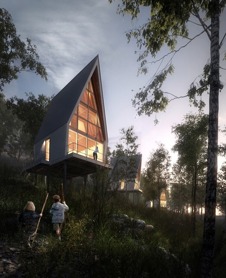 Nantahala Outdoor Center, rendering.