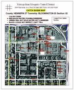 Catch-basin maps help St. Paul's Metropolitan Mosquito Control District organize and monitor mosquito breeding sites.