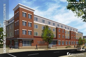 Pennrose Properties has started construction on the 61-unit Sacred Heart Residences in Allentown, Pa. The development, which will serve seniors 62 and older, is being built to meet Passive House certification.