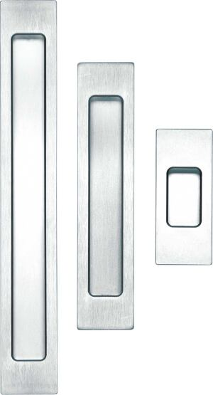 lovely flat   Good hardware is tough to find, but flush-mounted pieces are particularly elusive. New Zealand-based Halliday + Baillie is stepping in to fill the void. The manufacturer's latest introduction is a line of door pulls elegant in their simplicit